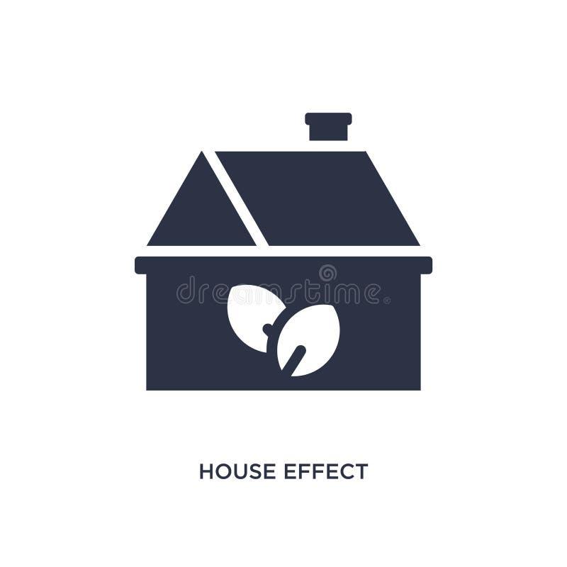 huseffektsymbol på vit bakgrund Enkel beståndsdelillustration från ekologibegrepp stock illustrationer