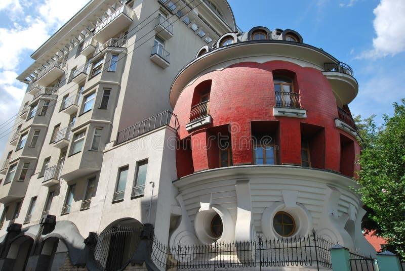 Huset - ägg i Moskva royaltyfria bilder