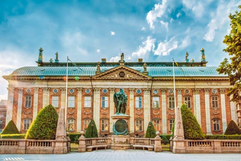 Huset av adel - Riddarhuset i Stockholm royaltyfri bild