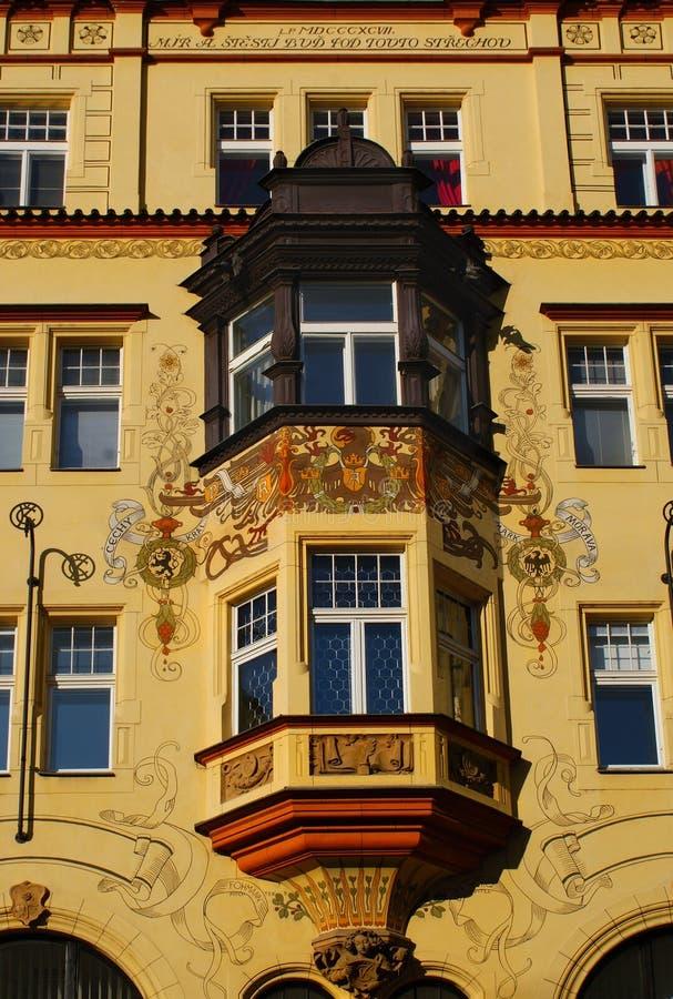 Prague för LandmarkhistorieFacade arkitektur royaltyfria foton