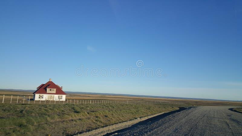 Huset - den stora ön av land av brand - ingenmansland långt från civilisation arkivbilder
