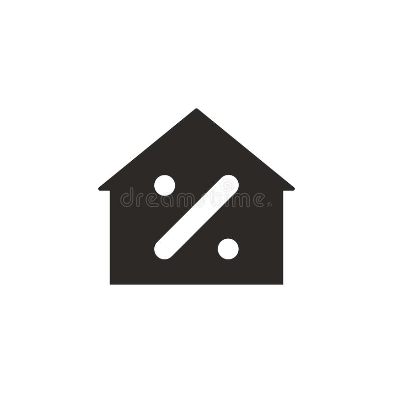 Huset intecknar vektorsymbolen Enkel best?ndsdelillustration fr?n UI-begrepp Huset intecknar vektorsymbolen Finansbegreppsvektor stock illustrationer