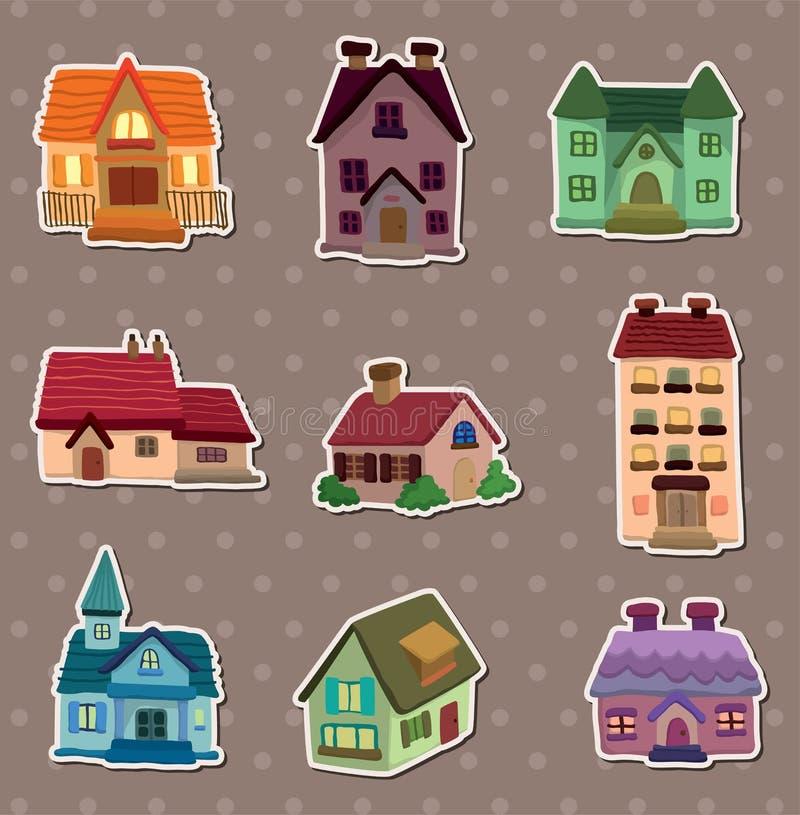 husetiketter royaltyfri illustrationer