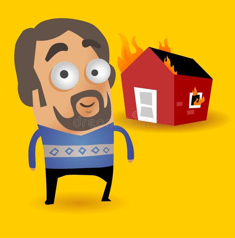 Husförsäkring royaltyfri illustrationer