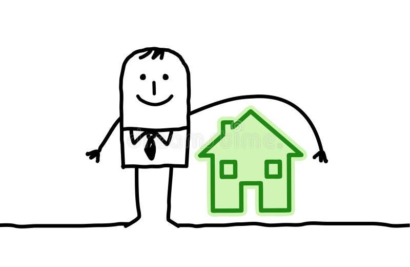 husförsäkringman royaltyfri illustrationer