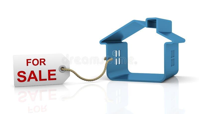husförsäljning stock illustrationer