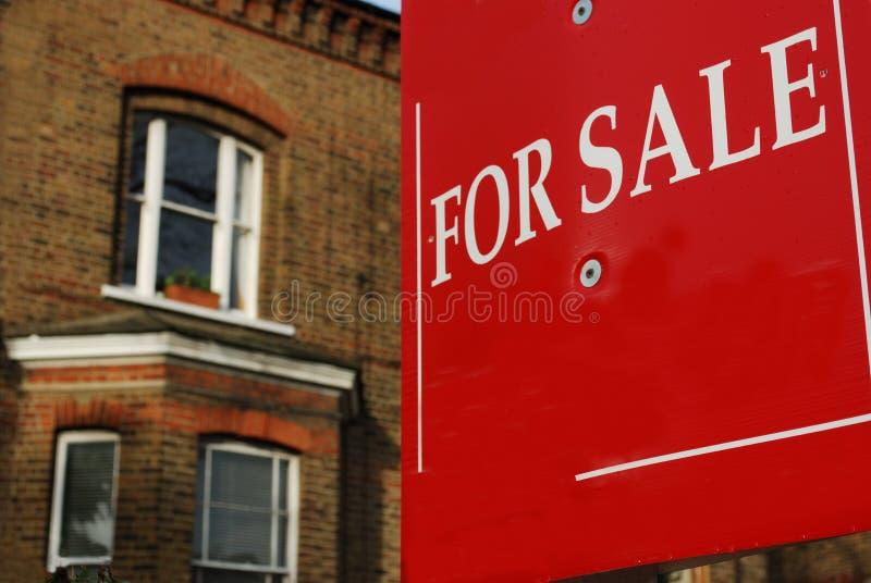 husförsäljning royaltyfri foto