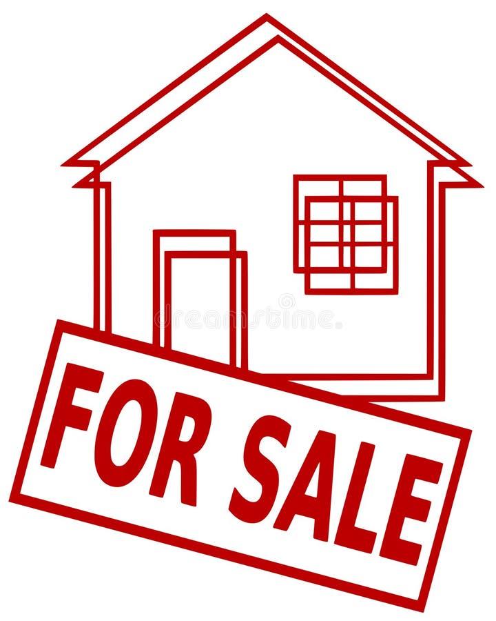 husförsäljning royaltyfri illustrationer