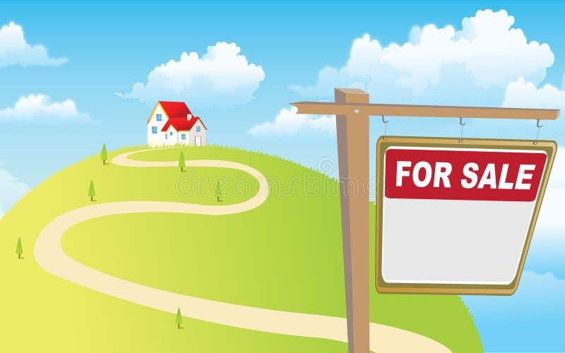husförsäljning vektor illustrationer