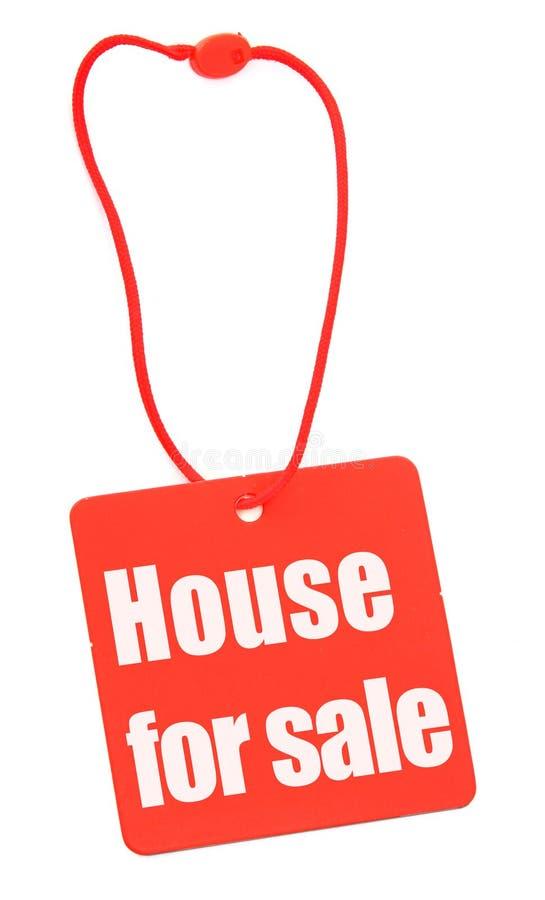 husförsäljningsetikett royaltyfria bilder