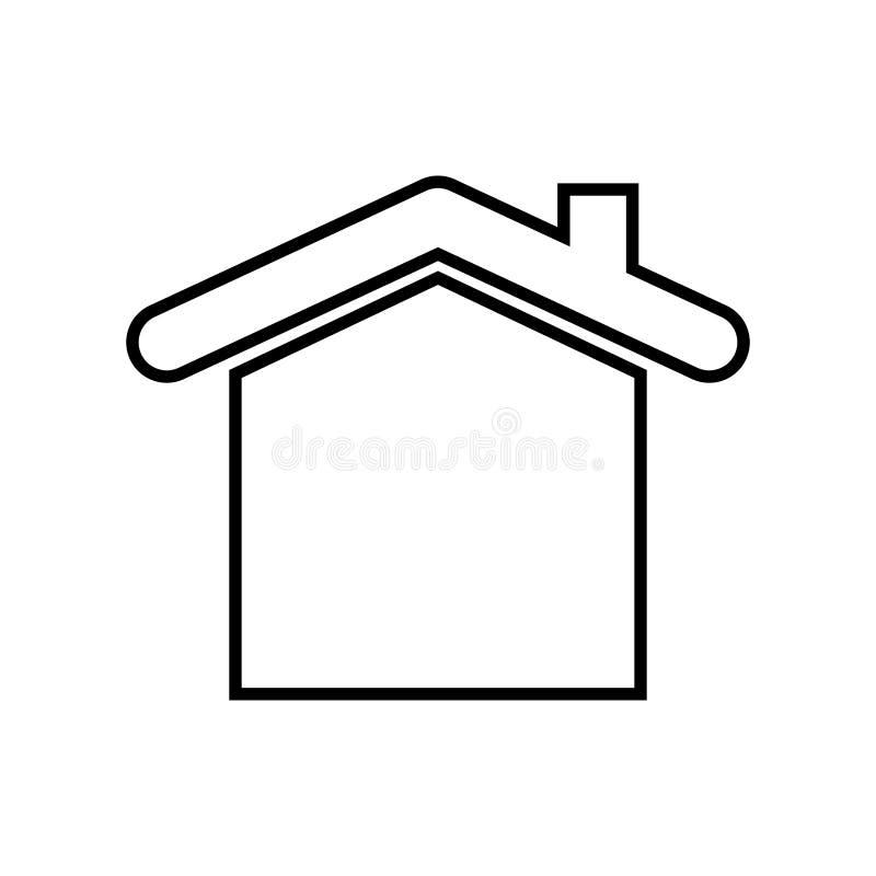 Husfastighetsymbol stock illustrationer