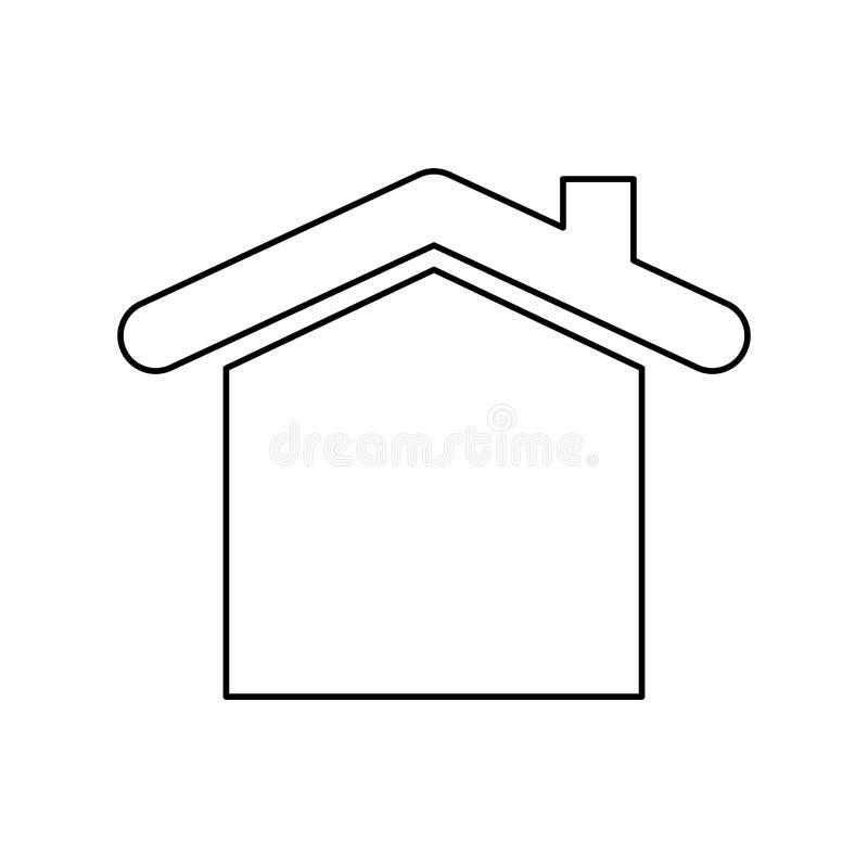 Husfastighetsymbol royaltyfri illustrationer