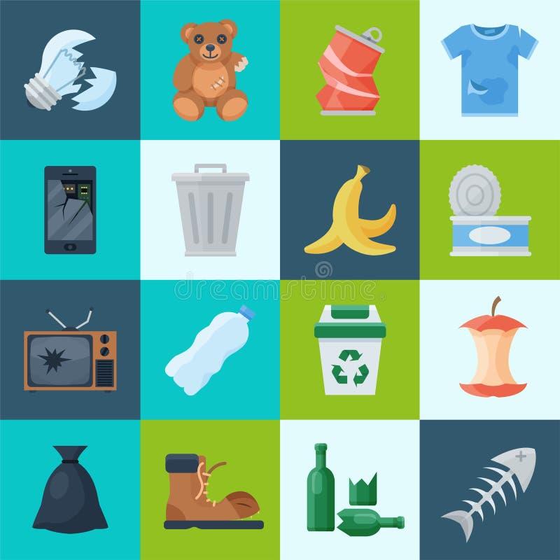 Hushåll och avfalls royaltyfri illustrationer