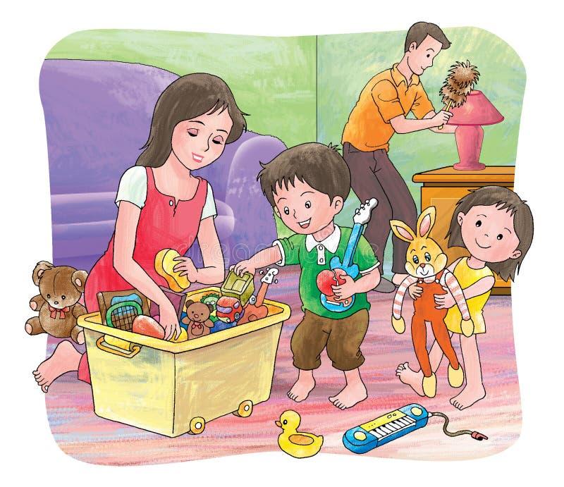 hushållning royaltyfri illustrationer