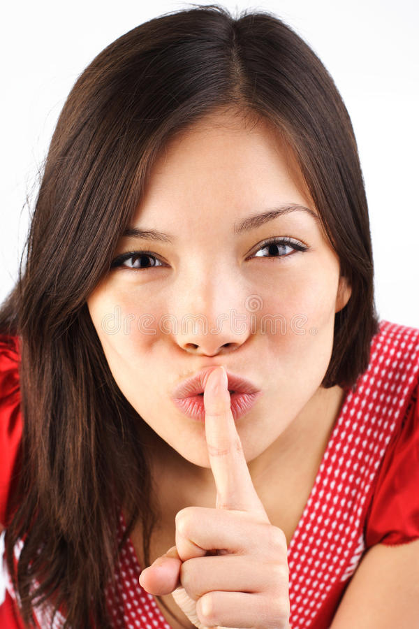 Download Hush stock photo. Image of brunette, background, attractive - 10042690