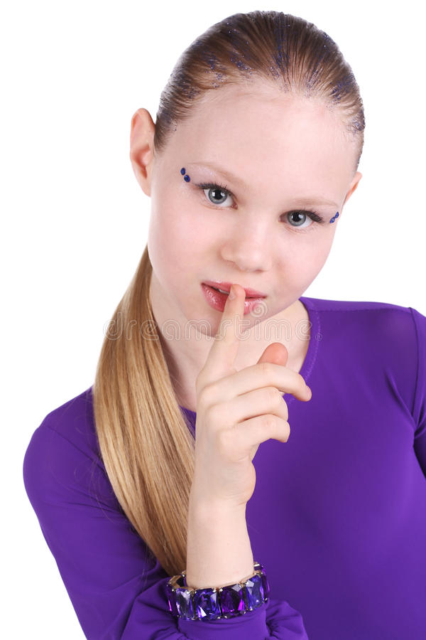 Download Hush stock photo. Image of mute, attractive, hand, lady - 20140640