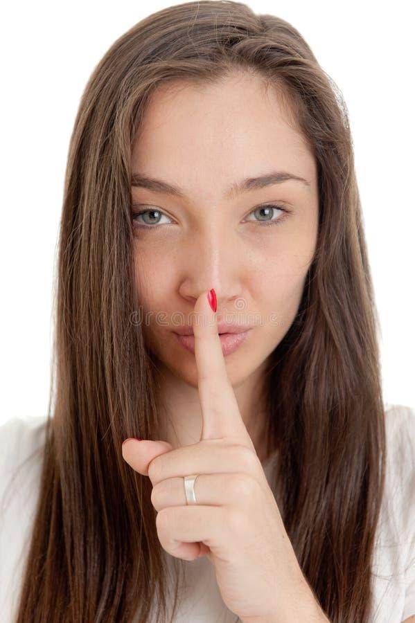Download Hush stock image. Image of attractive, hush, shut, hair - 20306725