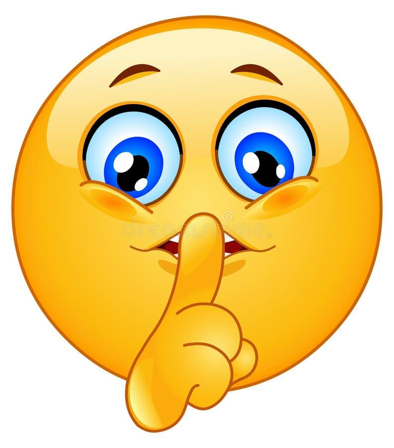 hush emoticon стоковое изображение
