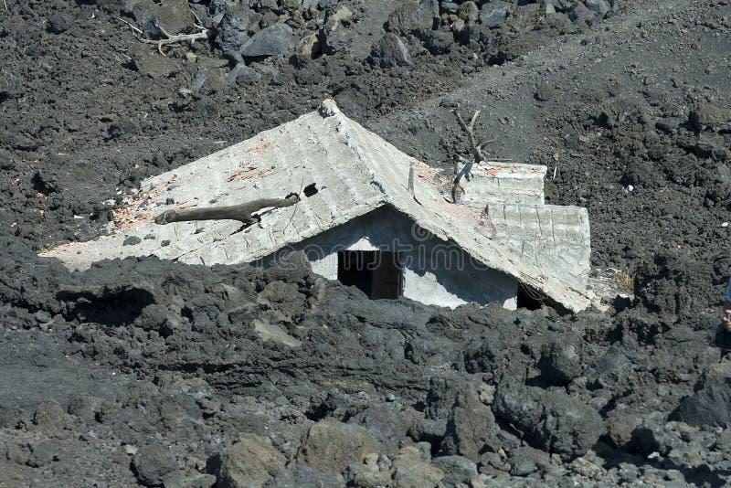 husjordskred under royaltyfri foto