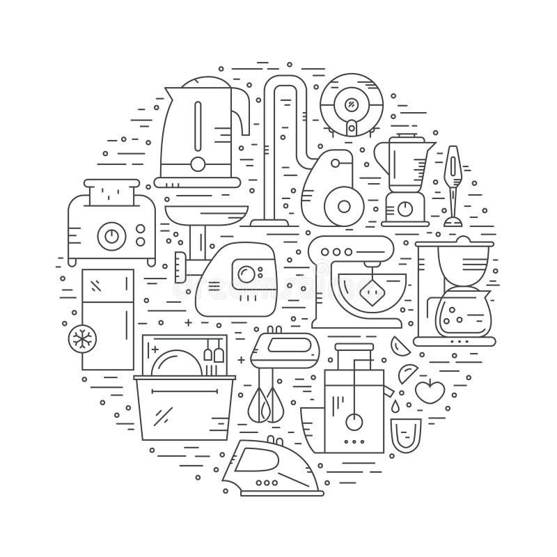 Huskugghjul royaltyfri illustrationer