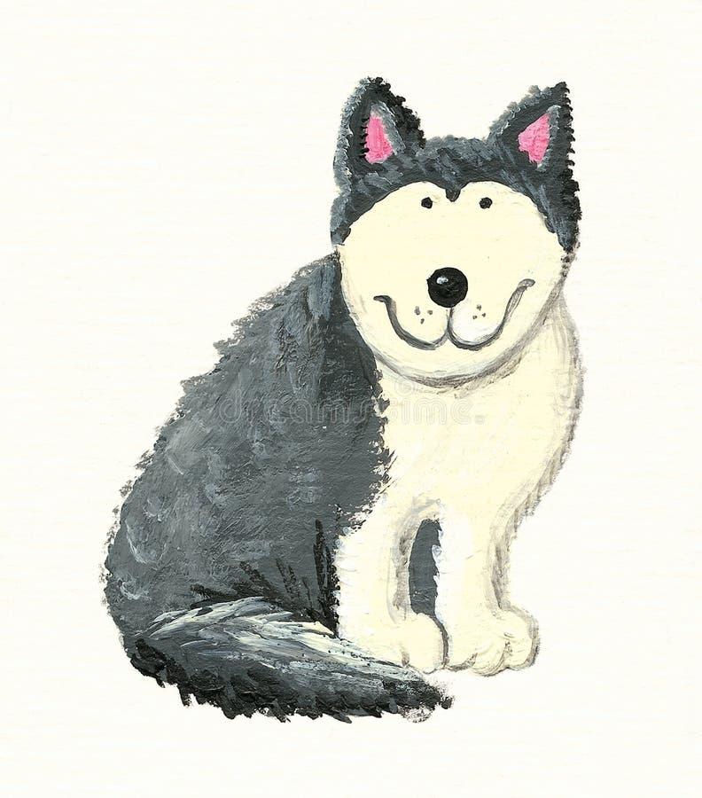Download Husky stock illustration. Illustration of acrylic, breed - 12619546