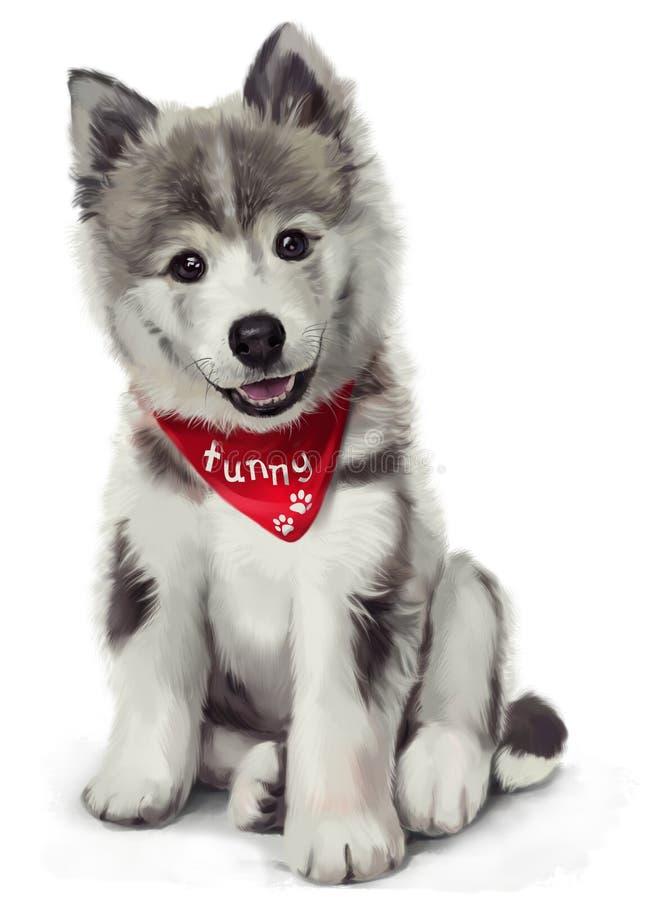 Husky illustration vector illustration