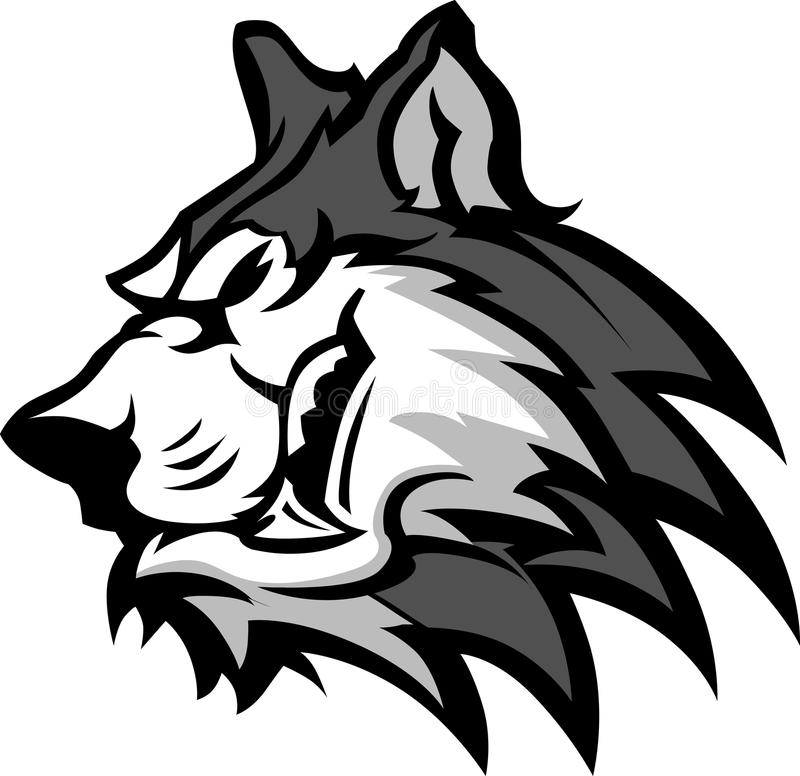 Husky Mascot Graphic Royalty Free Stock Photos