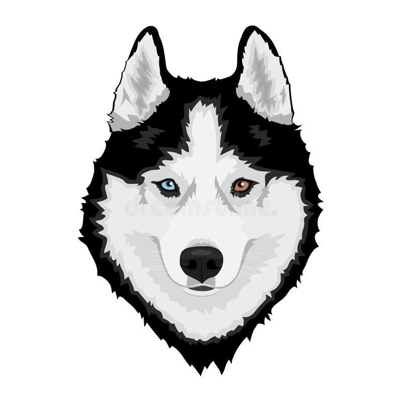 husky siberian för hund vektor illustrationer