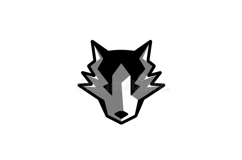 Husky Wolf Head Logo vektor illustrationer