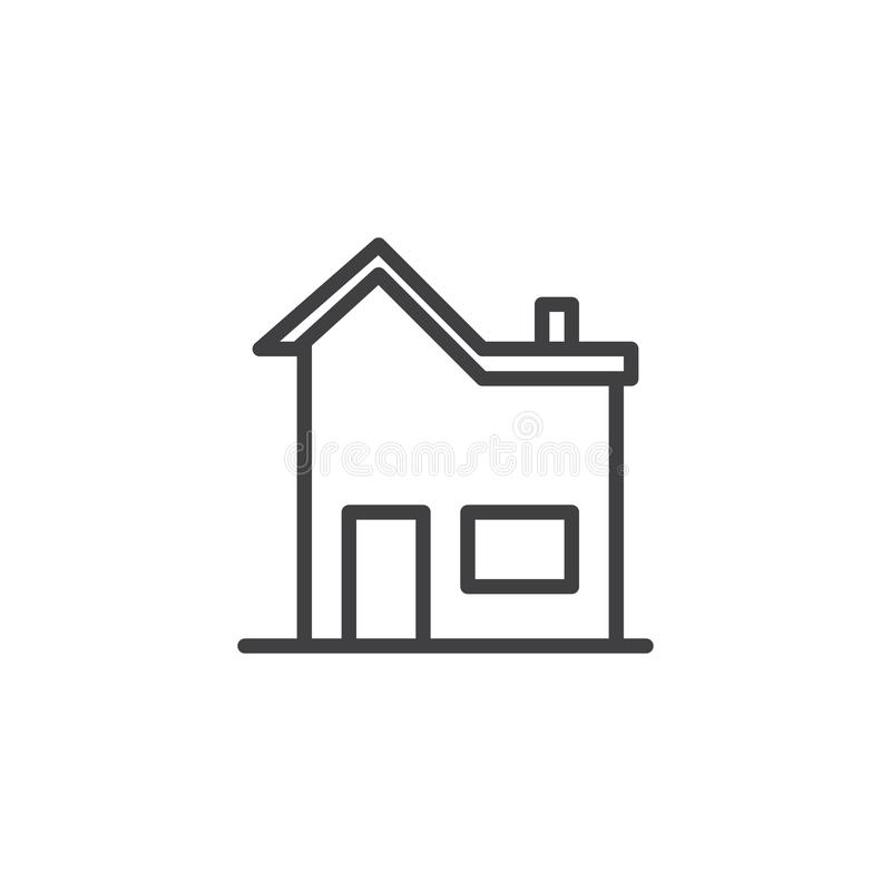 Huslinje symbol vektor illustrationer