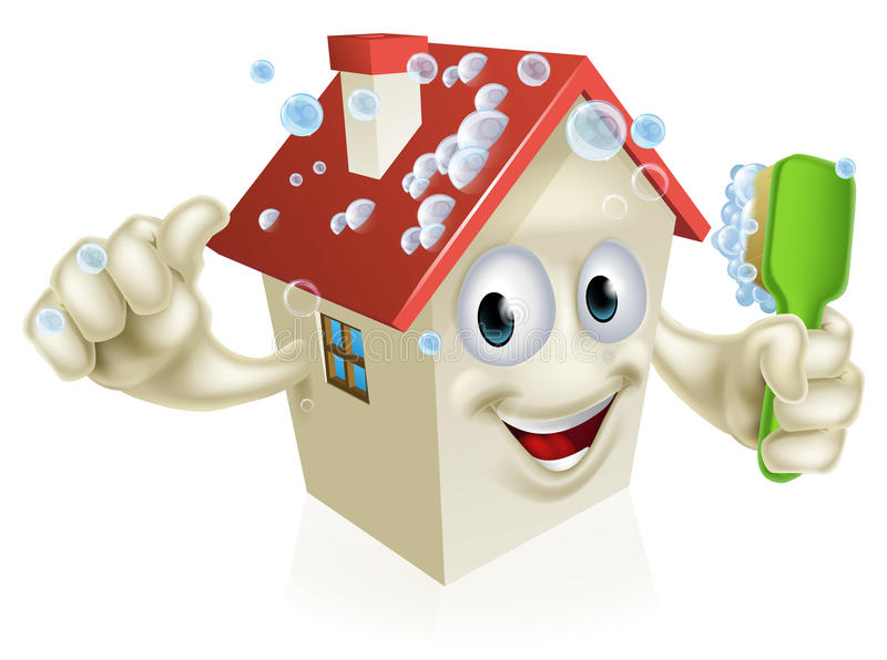 Huslokalvårdmaskot vektor illustrationer