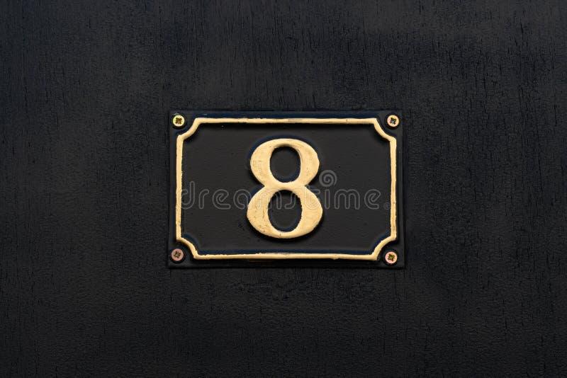 Husnummer 8 royaltyfria bilder