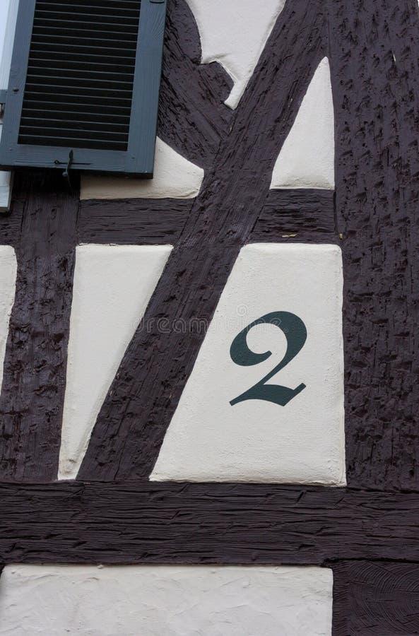 Husnummer - Winnenden - Tyskland arkivfoto