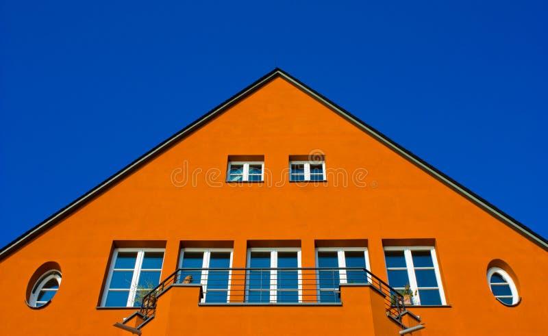 husorange fotografering för bildbyråer