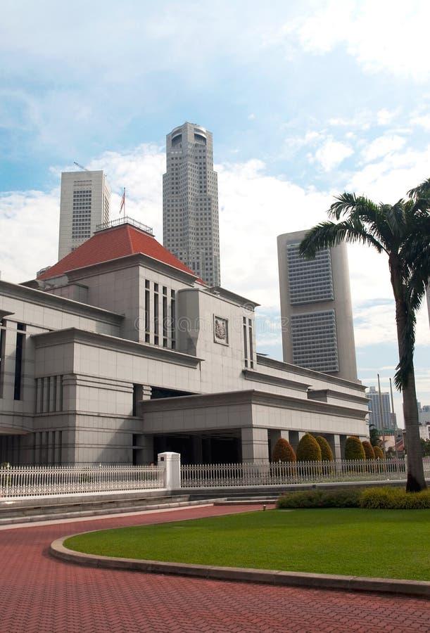 husparlament singapore arkivfoto