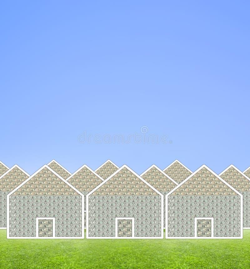 Huspengarförort Arkivfoton