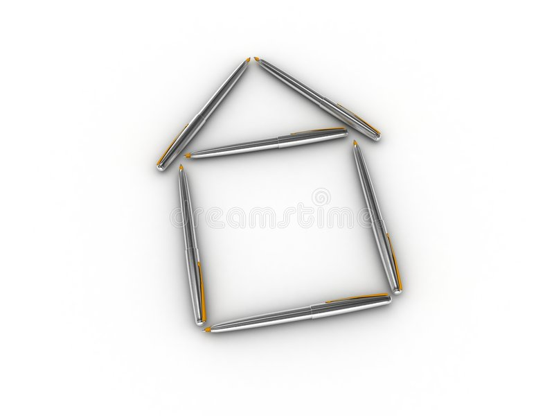 huspenna arkivfoton