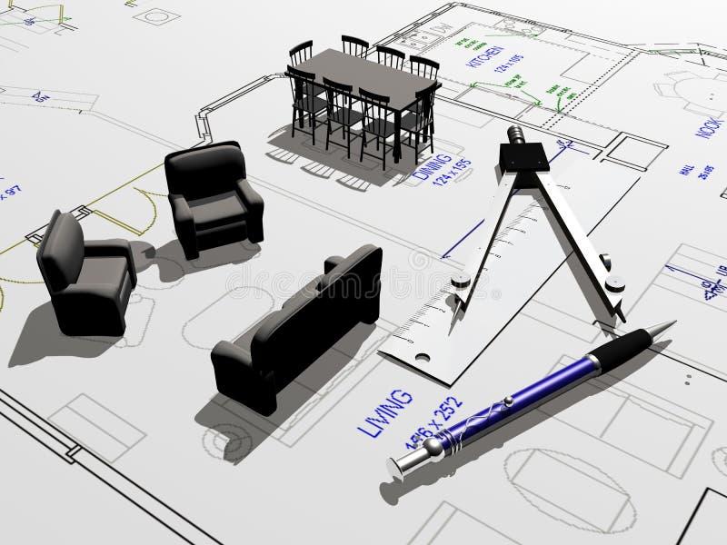 husplan stock illustrationer