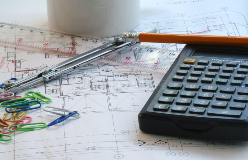 Download Husplan arkivfoto. Bild av räkning, kompass, planläggning - 512026
