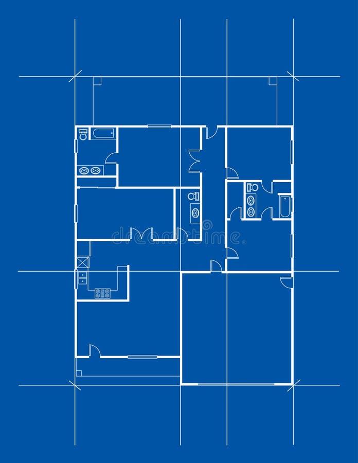 husplan royaltyfri illustrationer