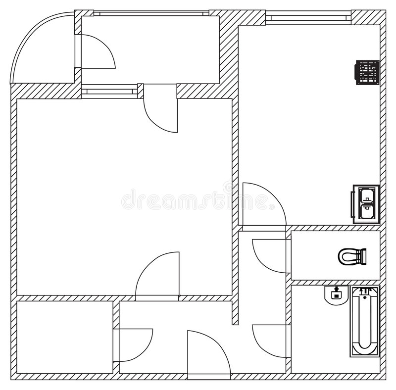 husplanvektor stock illustrationer