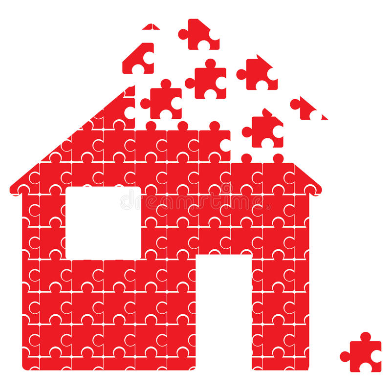 huspussel vektor illustrationer