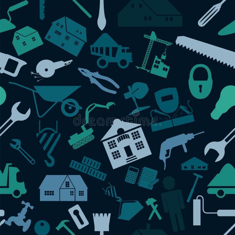 Husreparation och konstruktionsbakgrund vektor illustrationer