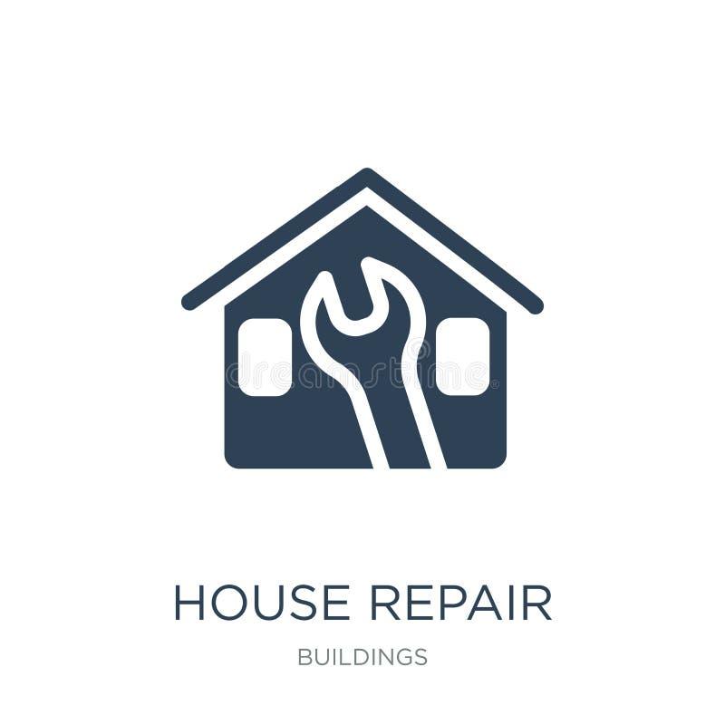 husreparationssymbol i moderiktig designstil husreparationssymbol som isoleras på vit bakgrund enkel symbol för husreparationsvek vektor illustrationer