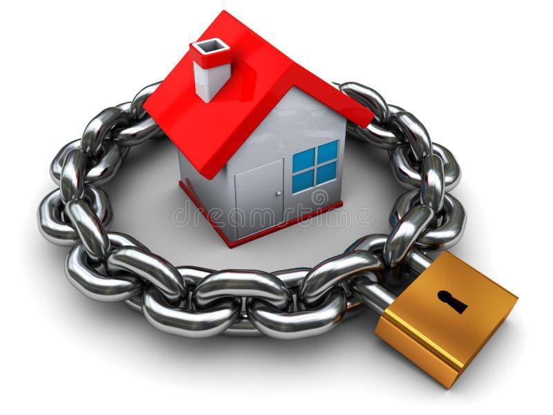 hussäkerhet vektor illustrationer