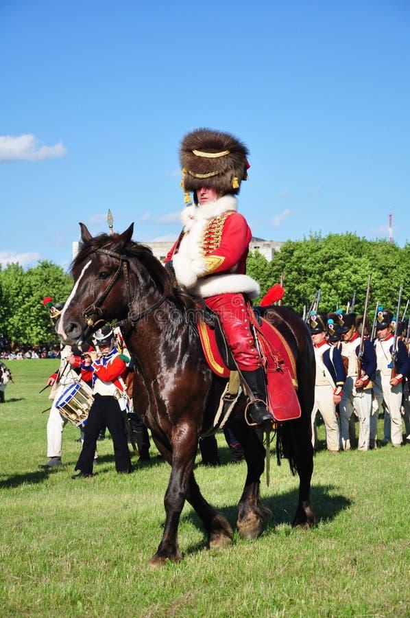 Hussargeneral lizenzfreie stockfotos