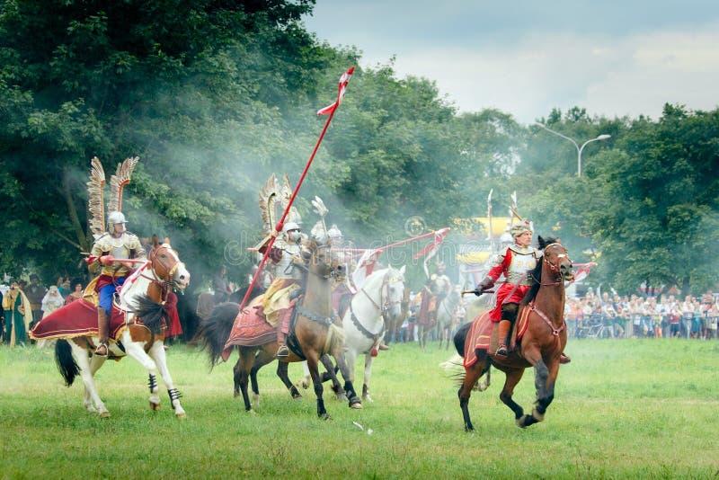 Hussars-Ladung stockfotos
