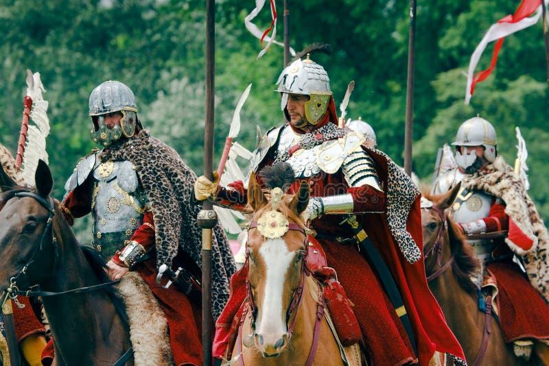 Hussars poloneses foto de stock