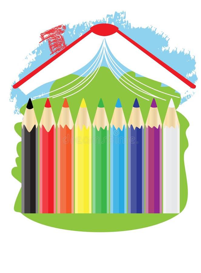 husskola royaltyfri illustrationer