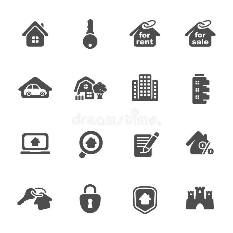 Download Hussymboler. Fastighet vektor illustrationer. Illustration av liggande - 37346209